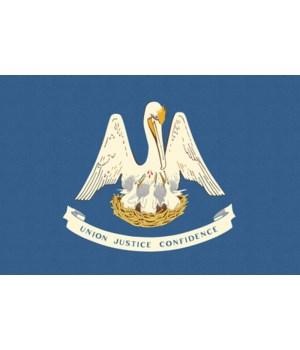 Louisiana State Flag - Letterpress - Lan