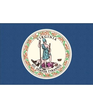Virginia State Flag - Letterpress - Lant