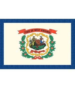 West Virginia State Flag - Letterpress -