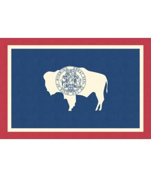 Wyoming State Flag - Letterpress - Lante
