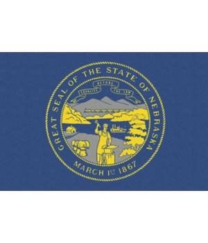 Nebraska State Flag - Letterpress - Lant