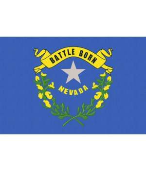 Nevada State Flag - Letterpress - Lanter