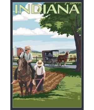 Indiana - Amish Farm Scene