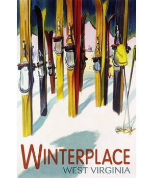Winterplace, WV - Colorful Skis