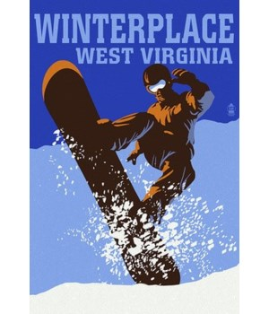 Winterplace, WV - Colorblock Snowboarder