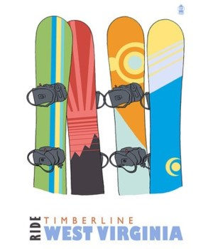 Timberline, WV - Snowboards in Snow