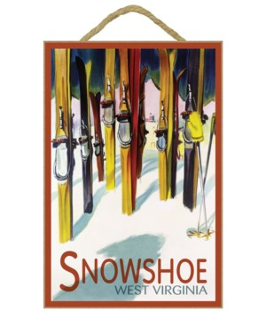 Snowshoe, West Virginia - Colorful Skis