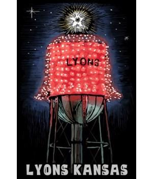 Lyons, Kansas - Watertower -Scratchboard