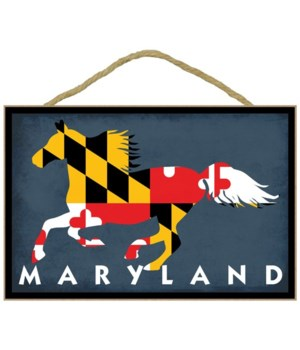 Maryland - Horse Flag - Lantern Press 7x