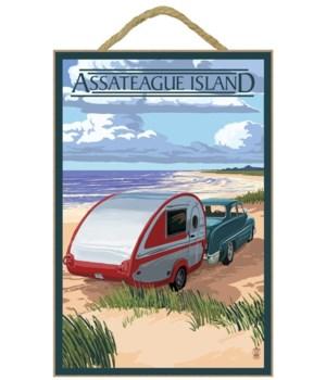 Assateague Island - Retro Camper on Beac