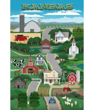 Kansas - Retro Style Countryside