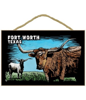 Fort Worth, Texas - Longhorn - Scratchbo
