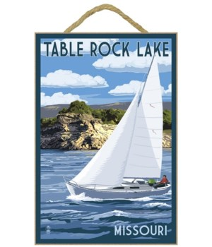 Table Rock Lake, Missouri - Sailboat & L