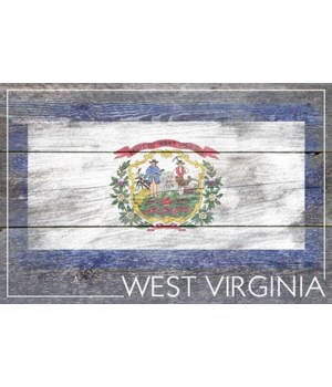 West Virginia - Rustic State Flag