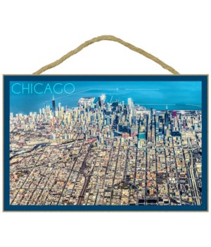 Chicago, Illinois - Aerial of Downtown -