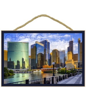 Chicago, Illinois - Skyline and River -