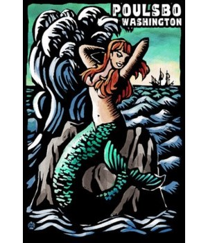 Poulsbo, Washington - Mermaid - Scratchb