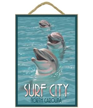 Surf City, north Carolina - Dolphins - L