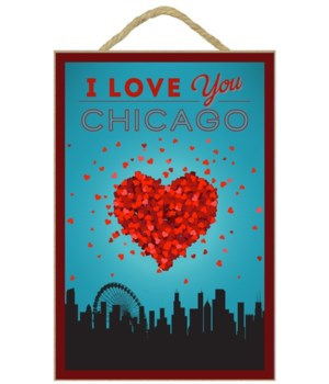 Chicago, Illinois - I Love You Lantern P