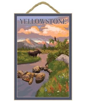 Yellowstone National Park - Moose & Moun
