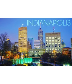 Indianapolis, Indiana - Skyline at Night