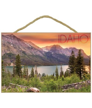 Idaho - Lake & Peaks at Sunset - Lantern
