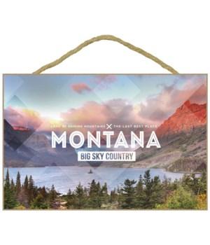 Big Sky Country Montana - Rubber Stamp -