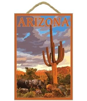 Arizona - Javelina and Cactus - Lantern