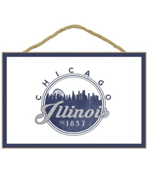 Chicago, Illinois - Skyline Seal (Blue)