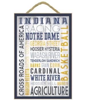 Indiana - Barnwood Typography - Lantern