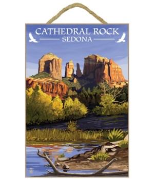Sedona, Arizona - Cathedral Rock (Blue W