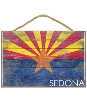 Sedona, Arizona - Arizona State Flag - B