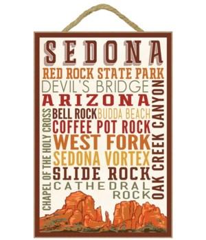 Sedona, Arizona - Typography (Version 2)