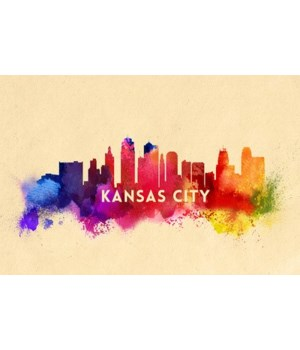 Kansas City, Missouri - Skyline Abstract