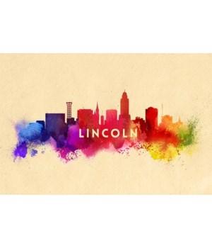 Lincoln, Nebraska - Skyline Abstract