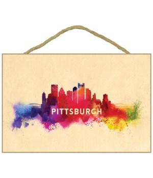 Pittsburgh, Pennsylvania - Skyline Abstr