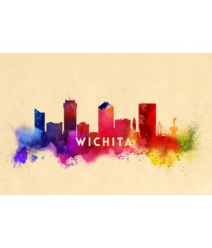 Kansas, Wichita - Skyline Abstract