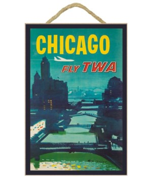 Chicago - TWA USA - Vintage Advertisemen