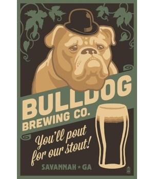 Savannah, Georgia - Bulldog - Retro Stou