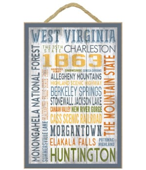 West Virginia - Cities names collage