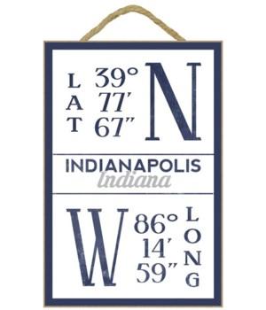 Indianapolis, Indiana - Latitude & Longi