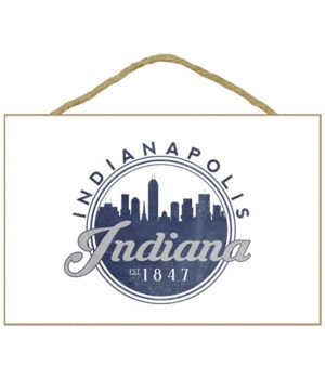 Indianapolis, Indiana - Skyline Seal (Bl