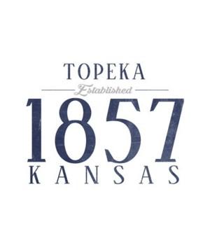 Topeka, Kansas -Established Date (Blue)