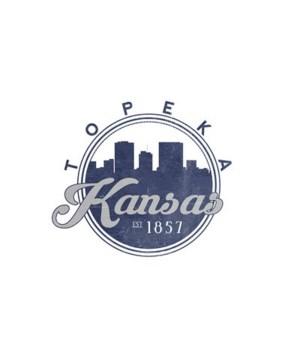 Topeka, Kansas - Skyline Seal (Blue)