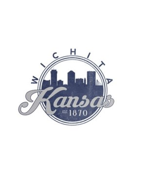 Wichita, Kansas - Skyline Seal (Blue)