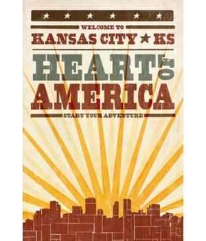 Kansas City, Kansas - Skyline & Sunburst