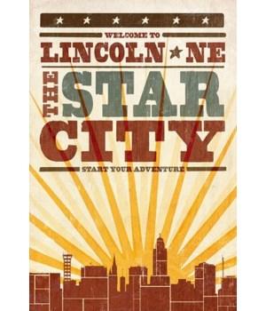 Lincoln, Nebraska - Skyline & Sunburst