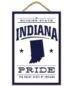 Indiana State Pride - Blue on White - La