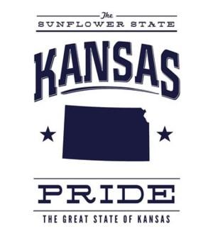 Kansas State Pride - Blue on White - Lan