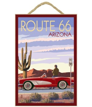 Arizona - Route 66 - Corvette - Lantern